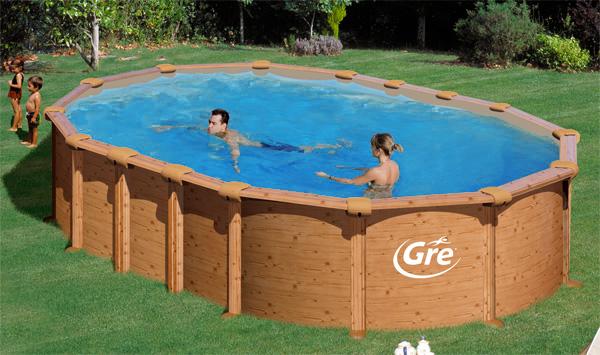 Piscine fuori terra gre effetto legno amazonia piscina for Piscina fuori terra prezzi