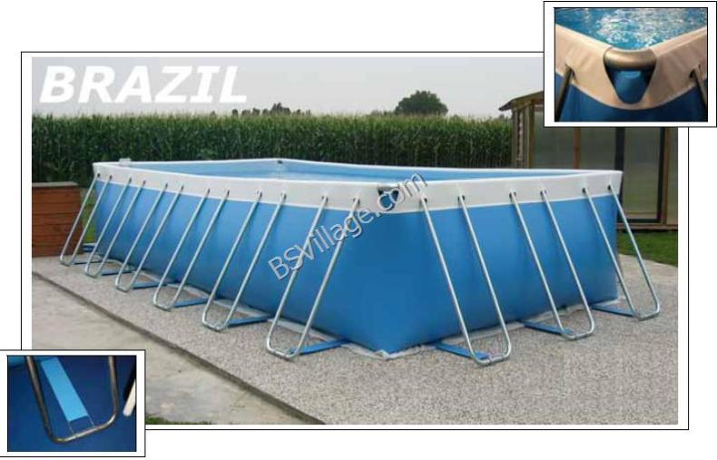 Piscine fuori terra brazil by waterline piscina fuori for Piscina fuori terra 10x5 prezzi