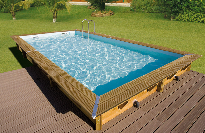 Piscine fuori terra in legno northwood piscina fuori - Piscina seminterrata prezzi ...