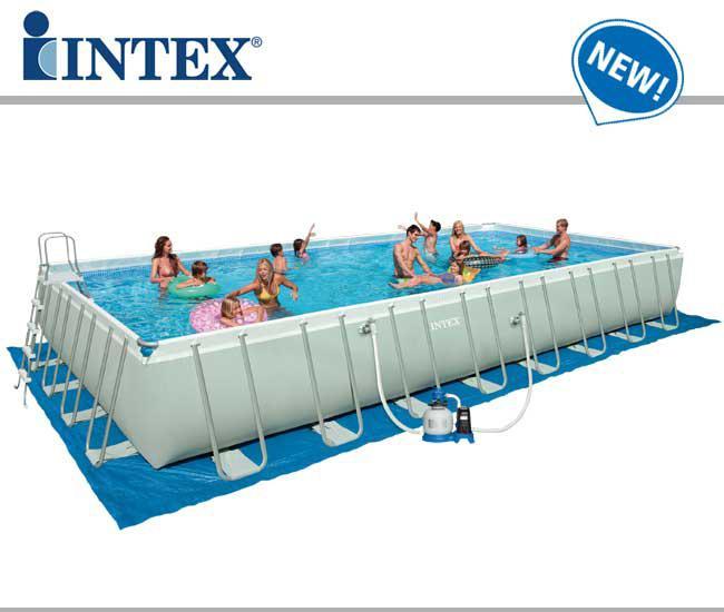 Piscine fuori terra ultra frame rettangolari by intex piscina fuori terra guida all 39 acquisto - Piscine rettangolari fuori terra ...