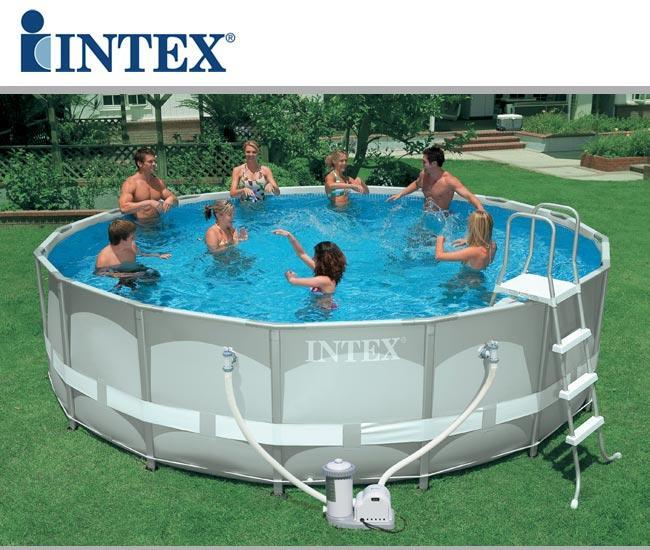 piscine fuori terra intex ultra frame rotonde piscina