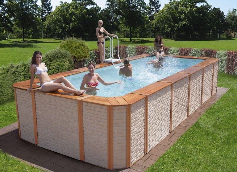 Piscine fuori terra rivestite in legno technypools premium piscina fuori terra guida all - Piscine fuori terra rivestite ...