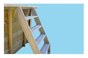 Scala esterna in legno