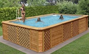Piscine fuori terra rivestite in legno technypools premium for Piscine fuori terra rivestite