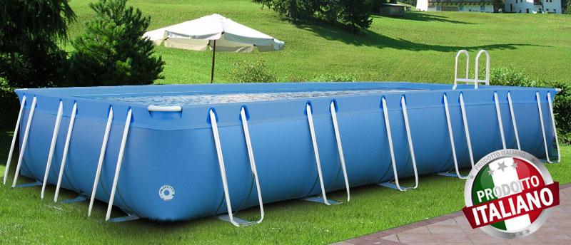 piscina fuori terra di grandi dimensioni in pvc modello iseo