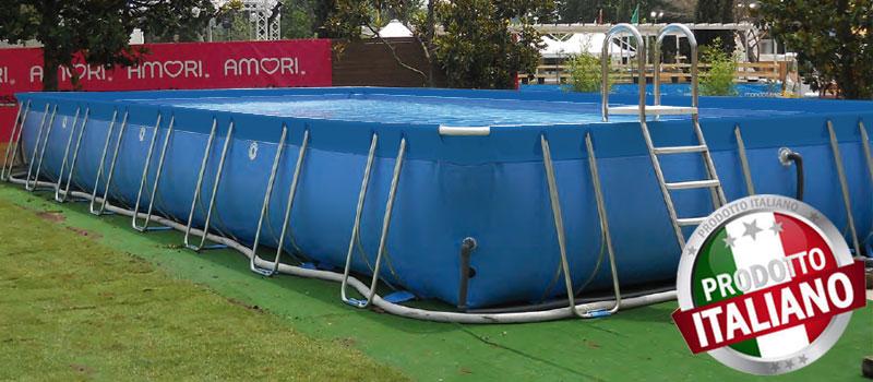 piscina fuori terra in pvc di grandi dimensioni
