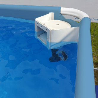Piscina fuori terra di grandi dimensioni in pvc modello iseo for Faretti per piscine fuori terra