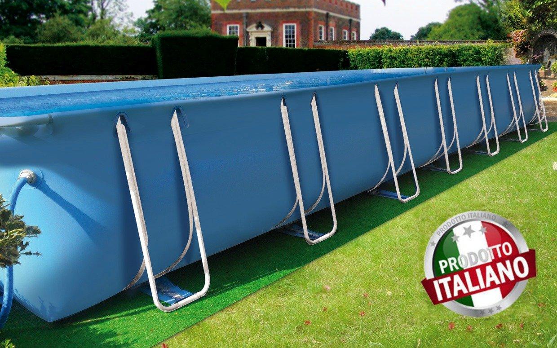 Piscina fuori terra di grandi dimensioni in pvc modello iseo - Scala per piscina fuori terra ...