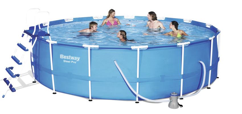 Le piscine fuori terra rotonde di bestway ti offtono tanti for Accessori piscine fuori terra bestway