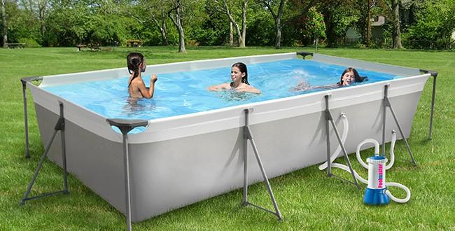 Piscine fuori terra new plast silver frame piscina fuori - Piscina limbiate prezzi 2017 ...