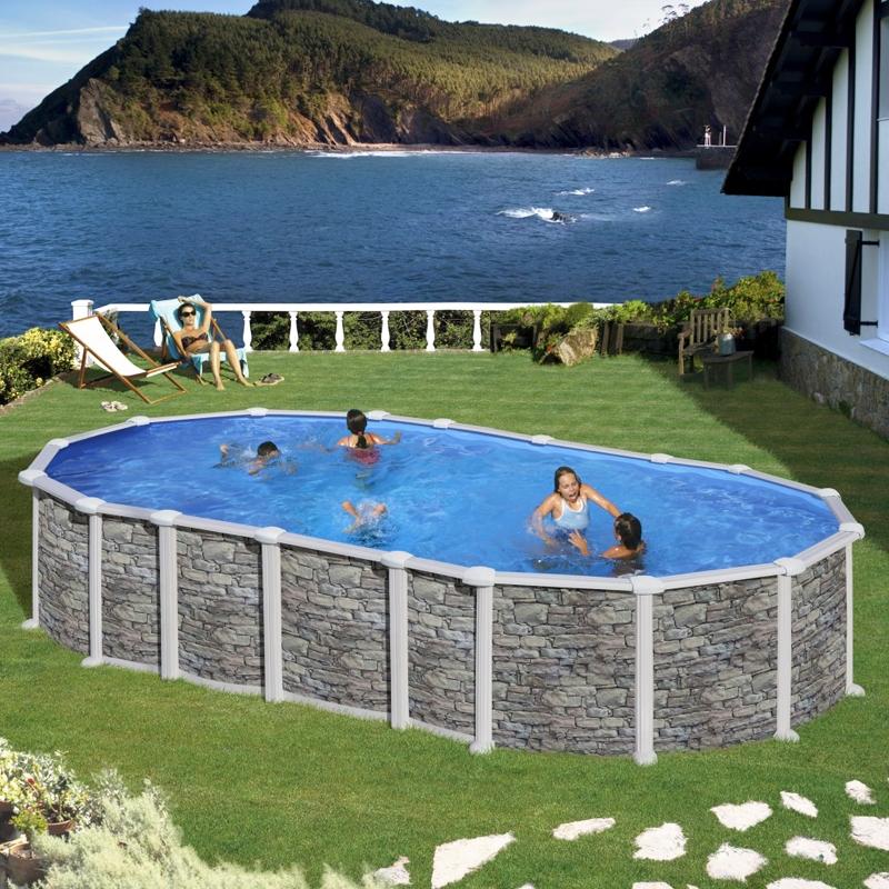 Piscine fuori terra gre santorini piscina fuori terra for Piscina fuori terra 10x5 prezzi